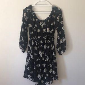 Forver21+ floral off-the-shoulder dress